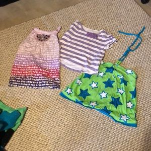 Three justice size 8 summer tops
